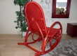 Rocking chair en rotin pour veranda RENNETA